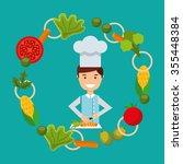 people cooking design  vector... | Shutterstock .eps vector #355448384