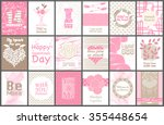 big set collection of valentine'... | Shutterstock .eps vector #355448654