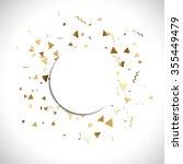 vector golden confetti. falling ... | Shutterstock .eps vector #355449479