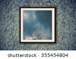 nature in blur within modern... | Shutterstock . vector #355454804