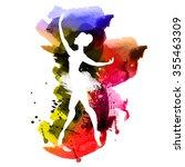 watercolor ballerina | Shutterstock .eps vector #355463309