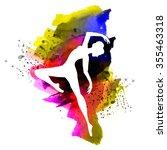 watercolor ballerina   Shutterstock .eps vector #355463318