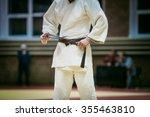 closeup young judoka brown belt ... | Shutterstock . vector #355463810