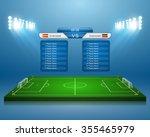 soccer field with scoreboard... | Shutterstock .eps vector #355465979