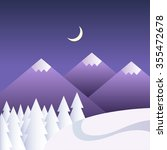 vector winter background with... | Shutterstock .eps vector #355472678