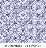 seamless pattern. portuguese... | Shutterstock .eps vector #355493414