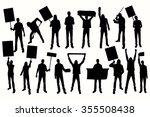 protest men silhouette. men... | Shutterstock .eps vector #355508438