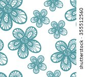 vector seamless hand drawn... | Shutterstock .eps vector #355512560
