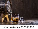 copper forged barrel and a... | Shutterstock . vector #355512758