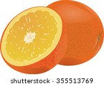 orange   citrus juicy fragrant... | Shutterstock .eps vector #355513769