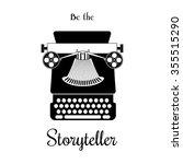 illustration of typewriter... | Shutterstock . vector #355515290