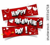 happy valentine's day greeting... | Shutterstock .eps vector #355516718