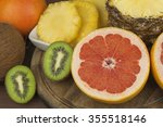 red grapefruit and fruit for... | Shutterstock . vector #355518146