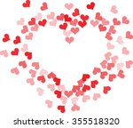 bright heart  holiday vector... | Shutterstock .eps vector #355518320