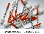 Syringes In A Pile   Needles...