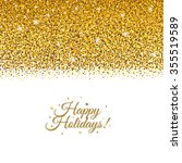 holiday postcard with gradient...   Shutterstock .eps vector #355519589