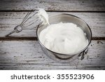 Whipped Cream In Bowl With And...