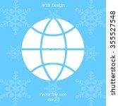 web icon. globe | Shutterstock .eps vector #355527548