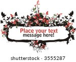 floral vector frame with place... | Shutterstock .eps vector #3555287