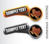 texas state on tilted banners | Shutterstock .eps vector #35552962