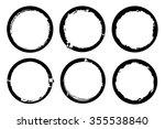 grunge circles. grunge round... | Shutterstock .eps vector #355538840