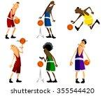 vector illustration of  six... | Shutterstock .eps vector #355544420
