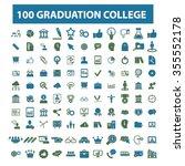 graduation  college  education  ... | Shutterstock .eps vector #355552178