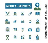medical and health care  icons  ... | Shutterstock .eps vector #355553330