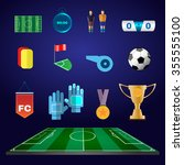 soccer game icons. football... | Shutterstock . vector #355555100