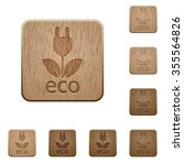 set of carved wooden eco energy ...