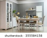 interior of a dining room | Shutterstock . vector #355584158