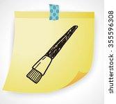 doodle brush   Shutterstock . vector #355596308