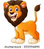 Stock photo cute lion cartoon 355596890