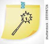 iron mace doodle | Shutterstock . vector #355598726