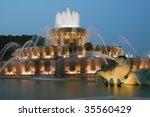 Buckingham Fountain In Chicago  ...
