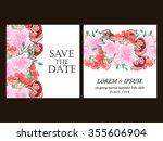 romantic invitation. wedding ... | Shutterstock .eps vector #355606904