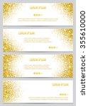 set of gold glitter banners.... | Shutterstock .eps vector #355610000