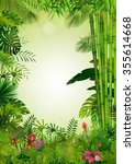 exotic tropical background... | Shutterstock .eps vector #355614668