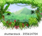 tropical background beautiful | Shutterstock . vector #355614704