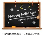 happy holidays. greetings... | Shutterstock .eps vector #355618946