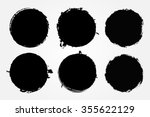 Stock vector grunge circles grunge round shapes vector illustration 355622129