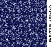 floral seamless pattern. white... | Shutterstock .eps vector #355625240