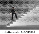 concept 3d man or  businessman... | Shutterstock . vector #355631084
