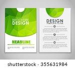 design brochures  flyers  with... | Shutterstock .eps vector #355631984