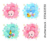 "set of four banners ""baby zone"" ... 