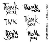 card with ink inscription thank ... | Shutterstock . vector #355633700
