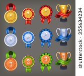 set of awards and trophies for... | Shutterstock .eps vector #355634234