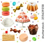 sweets  set of vector icons | Shutterstock .eps vector #355639358