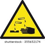 danger corrosive sign   Shutterstock .eps vector #355652174