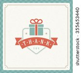 thank you message text vintage... | Shutterstock .eps vector #355653440